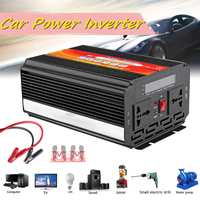 5000W Car Inverter DC 12/24V To AC 220/110V Modified Sine Wave Converter + Fuse Piece Car Voltage Power Converter Adapter