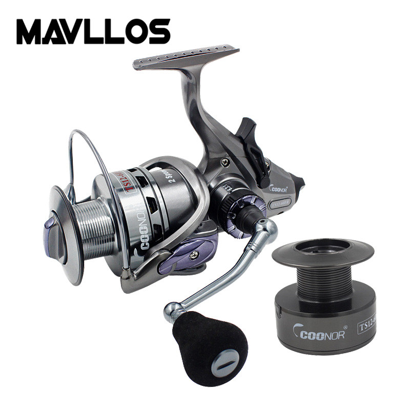 Mavllos Two Line Spools Sea Jigging Fishing Reel 11Pcs Bearing Ratio 6.3:1/4.1:1 Saltwater Spinning Reel Design For Big Fishing saltwater reel jigging 15w 60lbs balanced drag offshore inshore sea game fishing silky smooth super light gomexus