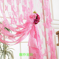 Free shipping butterfly jacquard string curtain curtain off the entrance curtain home decor