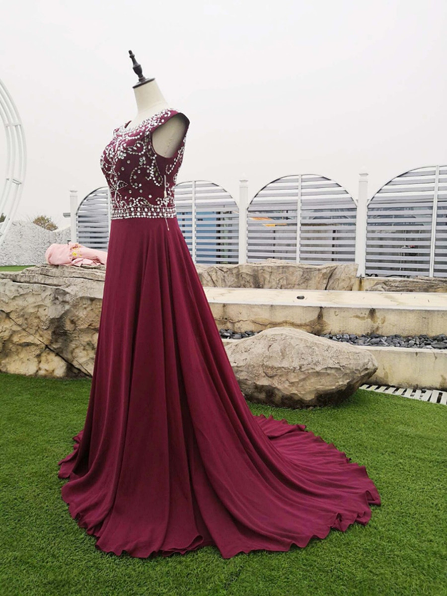 Vestidos De Gala Crystal Beading Prom Dresses 2019 Long Cheap Evening Party Dresses Vestido De Festa Prom Gown Robe De Soiree(China)