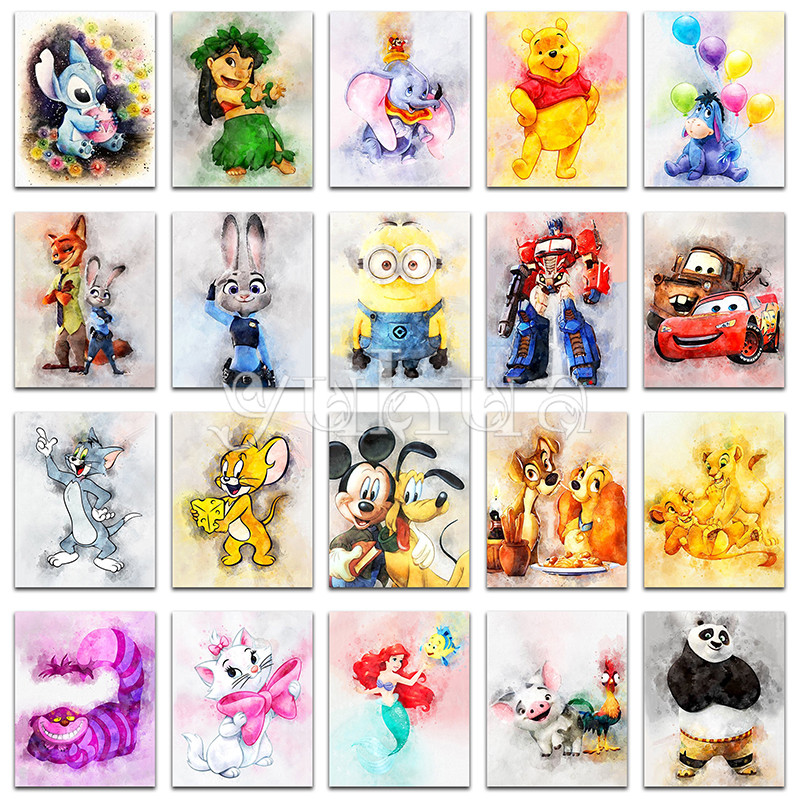 Cheap 5d Elmas Boyama Karikatür Disney Winnie Pooh Kedi Kölelerinin