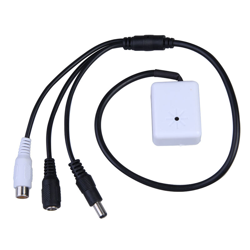 Hight Quality IP Camera CCTV Mic Microphone Sound Pick-Up Monitor Voice Audio Security White