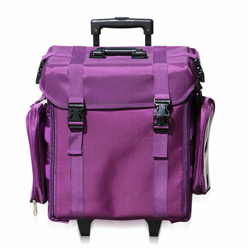 Soft Nylon Finished Dazzing Purple And Huge Sapce Travel Cosmetic Bag For Makeup Artist Free Shipping To Most Asia Countries In Bags Cases From