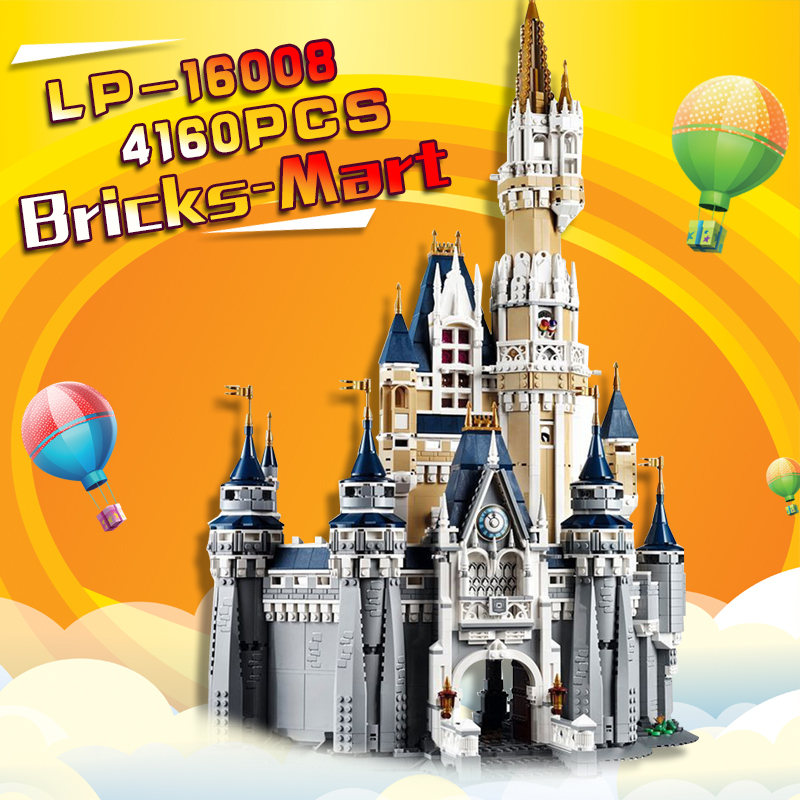 LEPIN 16008 Cinderella Princess Castle City Model Building Block Kid Toys Gift Compatible 71040 for children day's gift in stock princess elsa s magical ice castle model building blocks girls toys lepin compatible legoe friends princess kid gift set