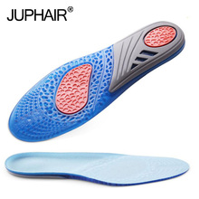 JUP 3 Pairs Silicon Gel Can Be Free to Cut Silicone Insoles Sport Massaging Shock Absorption Shoe Pads  Training Shock Absorber все цены