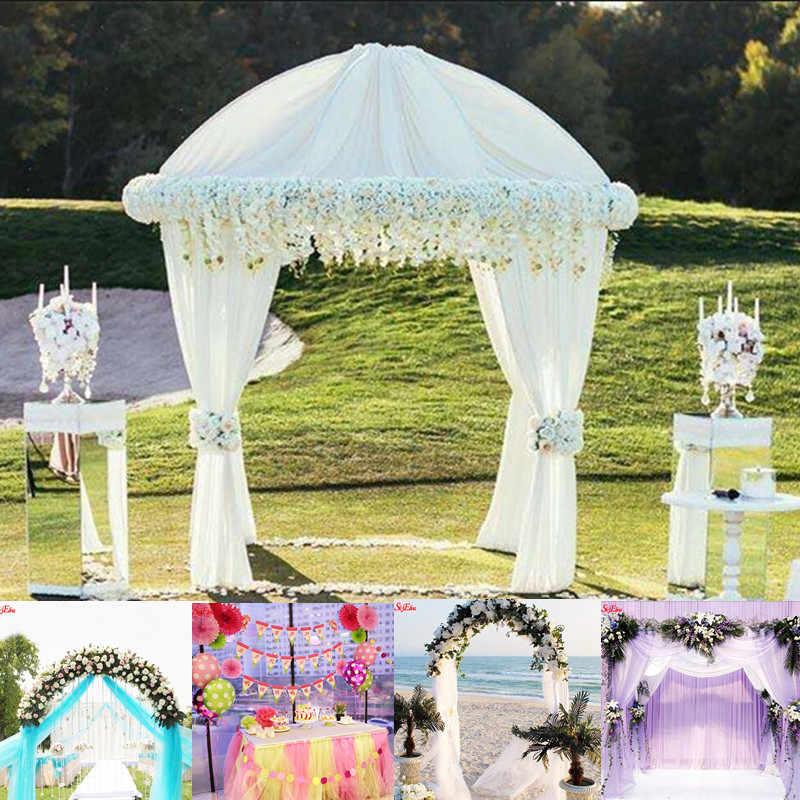 Лидер продаж! 48 см x 5 м прозрачный Кристальный тюль рулон органзы Ткань для свадьбы фестивальные декорации вечерние украшения ребенка рождения Крещение 7Z