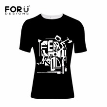 FORUDESIGNS Fear of God T Shirt for Men Brand Clothing Male Bodybuilding Fitness Top Tees Casual Teenager Boys Hip Hop T-shirt