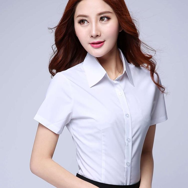 2019 New Summer Fashion Chiffon Shirt Elegant Women Clothing Short Sleeve Lace Bow White Shirt High Quality Ol Office Clothing Women's Clothing