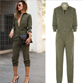 Fashion Women Army Green Jumpsuits Women Jumpers And Rompers Pullover Bodycon Playsuit Overalls Plus Size Sexy Elegant Clothes