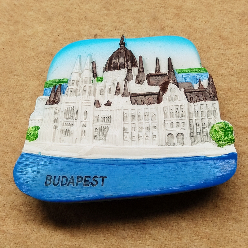 Hungary Budapest 3d three dimensional creative hand made resin refrigerator in Fridge Magnets from Home Garden