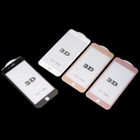 2 Set 3D Rhombus Diamond Tempered Glass Screen Protector For Iphone 6 6S Plus 4 7