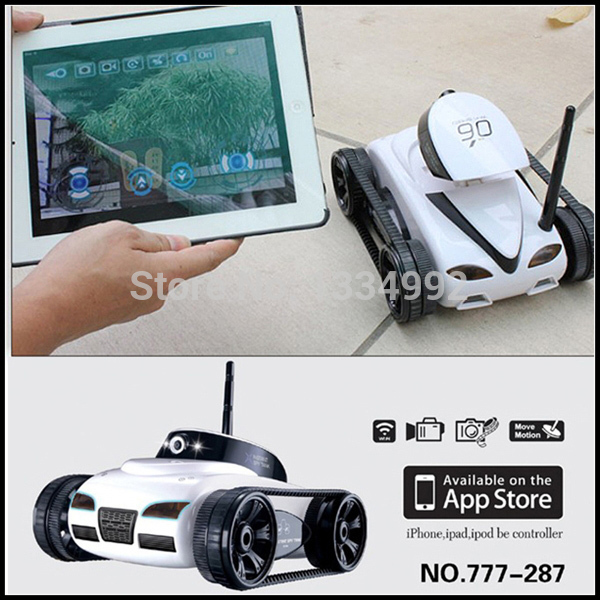US $89 89 |Black Remote Control Children Toys Black RC Tank With Camera  Wifi App Controlled for iPhone/iPad Video Camera RC Kids Tank Cars on