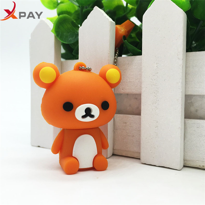 Image 3 - New style USB Flash Drive Lovely Cartoon Bear Pen Drive 64GB 128GB Pendrive Storage real capacity 4GB 8GB 16GB 32GB free shippin-in USB Flash Drives from Computer & Office