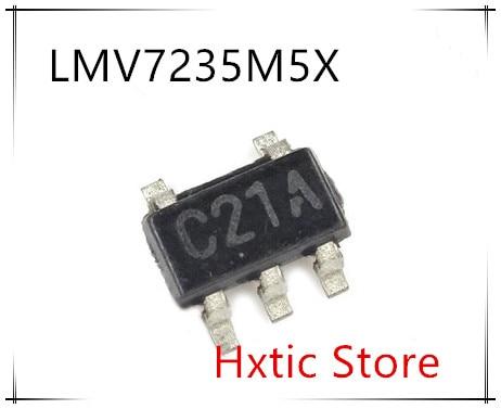 NEW 10PCS LOT LMV7235M5X LMV7235M5 LMV7235 MARKING C21A SOT23 5 IC