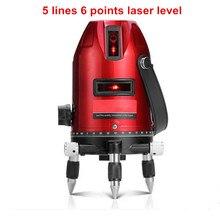 5 Linie 6 Punktów Nivel samopoziomujący Laser Level Laser Profissional I 360 Stopni Obrotowy Krzyż Linia Lasera Budynku narzędzia