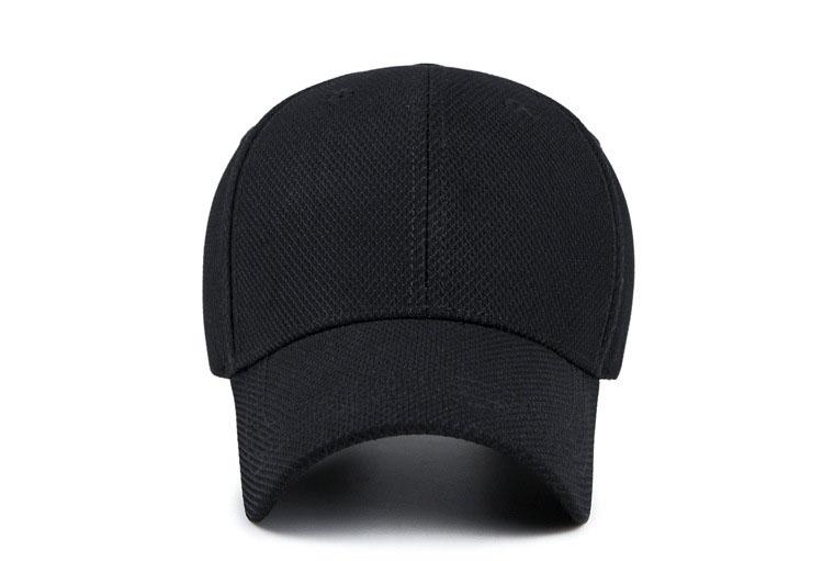 Solid Cord Colors Adjustable Baseball Cap - Black Cap Front View