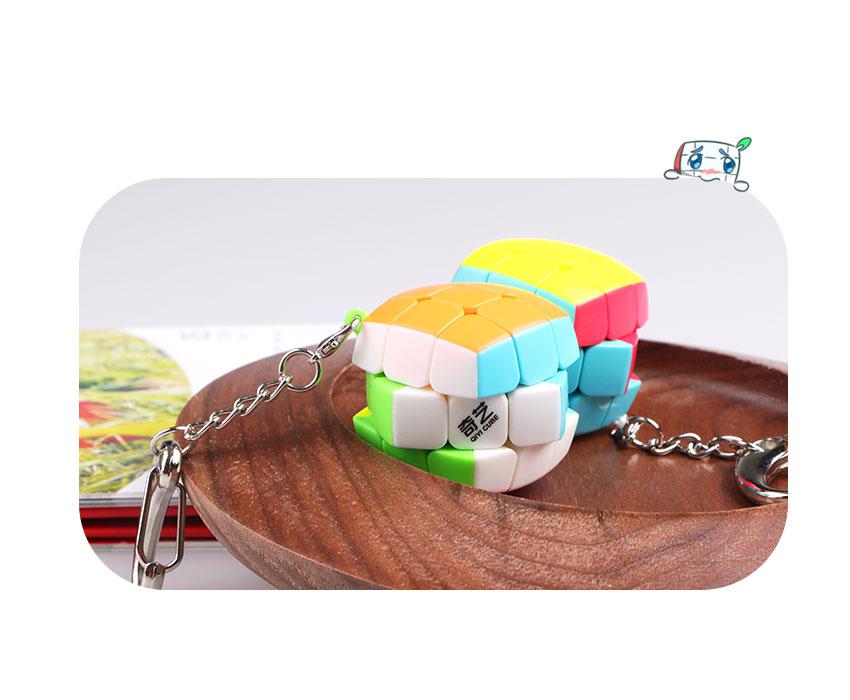 Qiyi Magic Cube Keychain სიჩქარე Puzzle Mini Cube 3x3x3 - ფაზლები - ფოტო 6