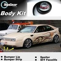 Bumper Lip Deflector Lips For Volkswagen VW Corrado Front Spoiler Skirt For TopGear Friends to Tuning / Body Kit / Strip