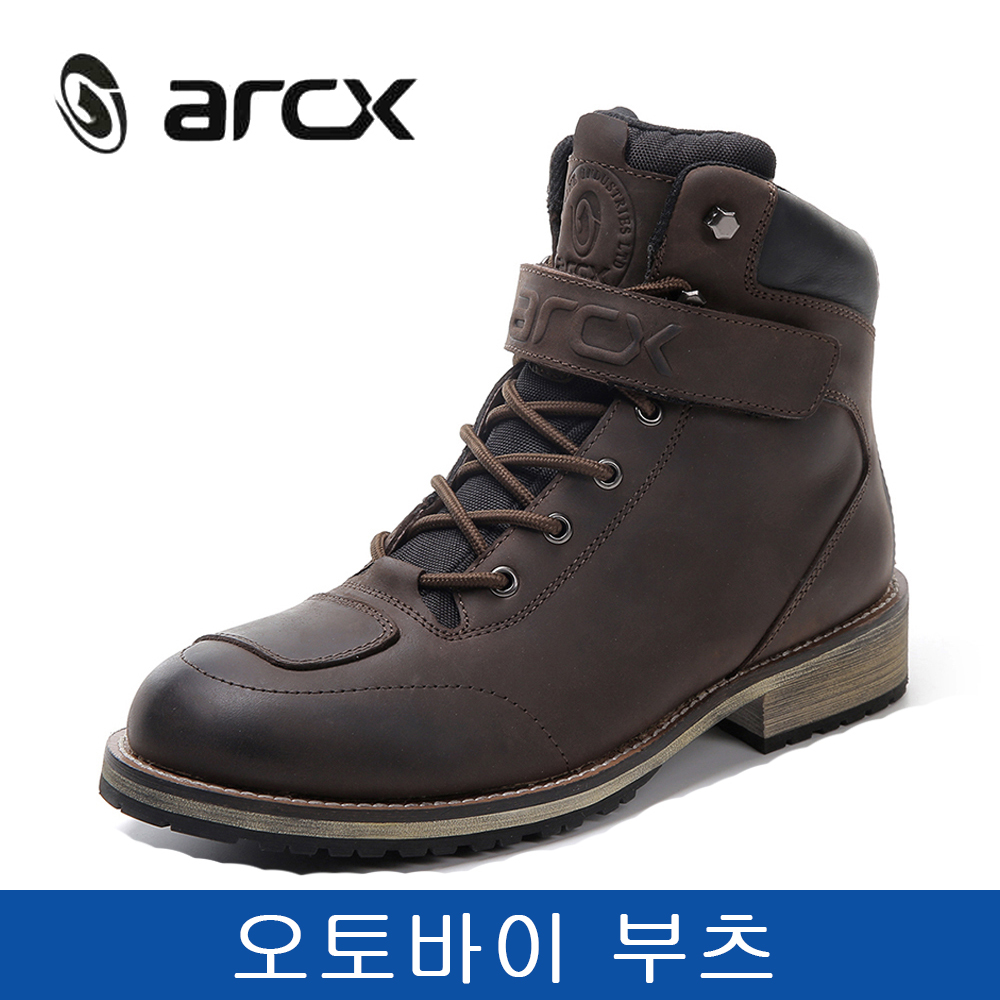Bottes de Moto en cuir de vache véritable ARCX chaussures de Moto imperméables pour hommes bottes de voyage en plein air bottes de Moto Vintage