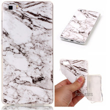 Phone Cases For Huawei P8lite Case Marble Stone image Painted Cover Mobile Phone Bags & Case For Huawei P8 lite(China)