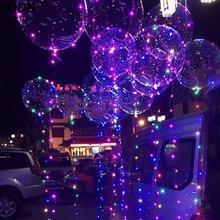 20Pcs Luminous Led Balloon Clear Bubble Balloon BOBO Clear LED Light Wedding Decor Birthday Party Supplies 20inch Balloons
