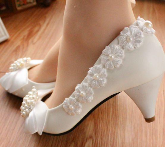 ФОТО Newest!  Mid heels bridal shoes white light ivory big rhinstones luxury wedding pumps shoe custom make different heel