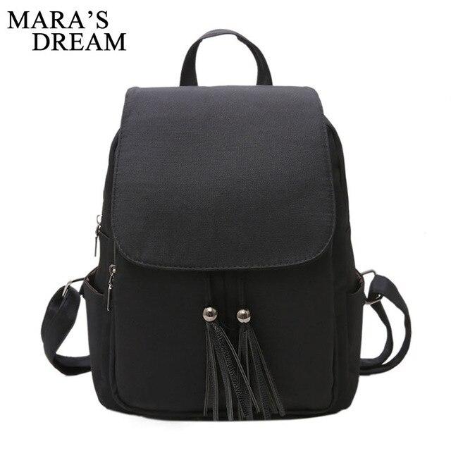 cad09e3c3b12 Мечта Мары Для женщин рюкзак мода нейлон Рюкзаки Drawstring черный рюкзак  брендовые сумки на плечо для