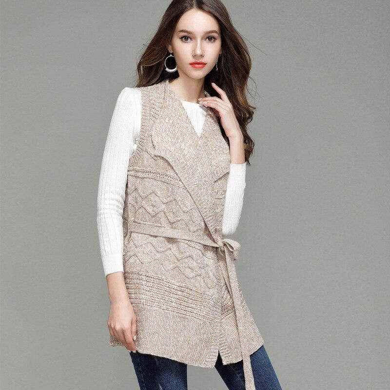 Amoyblue Long Knitted Cardigans Sleeveless Sweater Vest Women ...