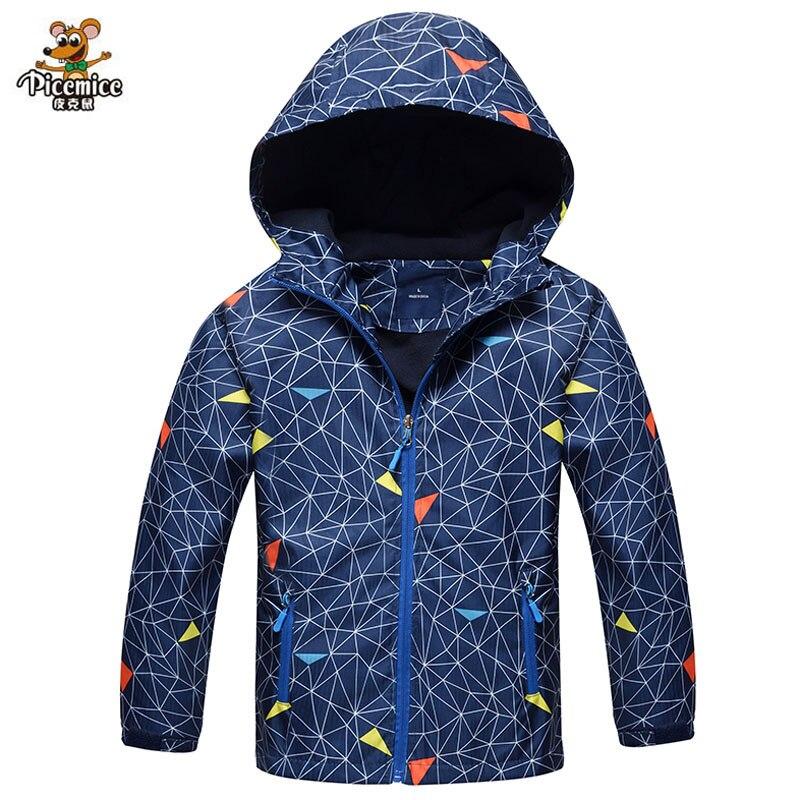 Boys Jacket Polar Fleece Spring Children Windbreaker Jackets Coats Kids Outerwear Sport Hoodie Clothes Double-deck Waterproof