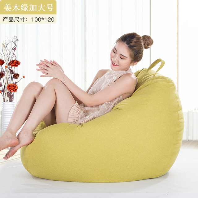 Excellent Us 27 23 27 Off Linen Cloth Bean Bag Cover For Livingroom Balcony Tatami Single Window Chair Home Furniture Lazy Beanbags Cover Puff For Adult In Dailytribune Chair Design For Home Dailytribuneorg
