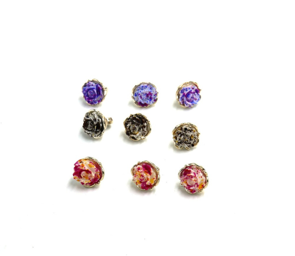 12.5mm flower combine ABS UV plating Baby sweater button Sewing Accessories Scrapbooking Cardmaking sewing accessory