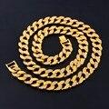 Мода Золото Посеребренная Отделка Iced Хип-Хоп CZ Цепи & Мужская Майами Кубинский Ожерелье Хип-Хоп Ювелирных Изделий Цепи