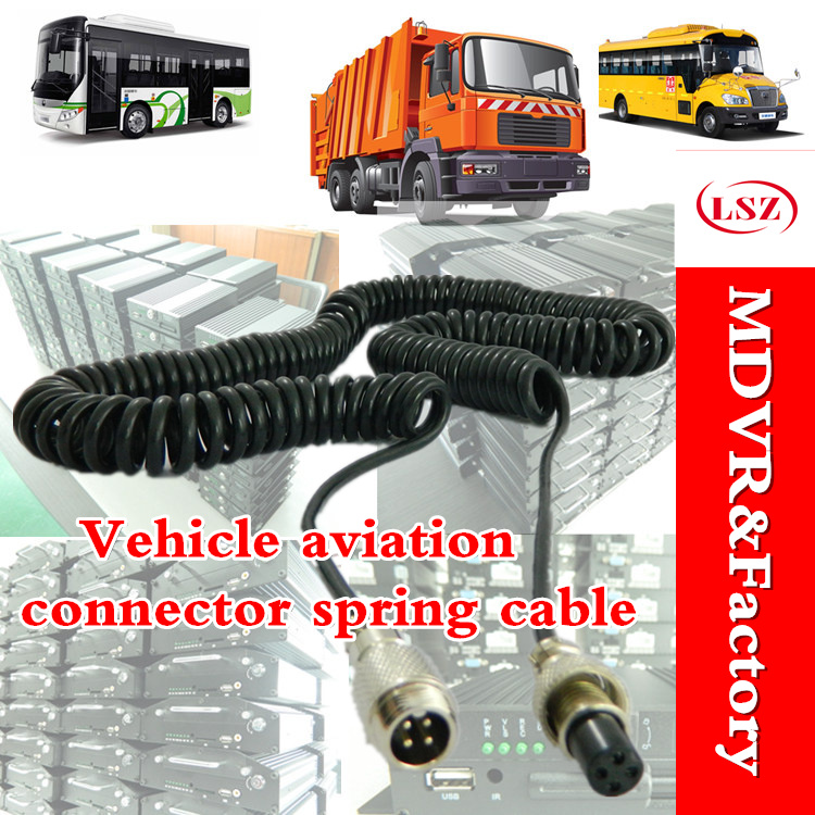 Bus Monitoring, Extended Cable, Truck Monitoring, Spring Wire Vehicle Aviation Connector Extension Cables