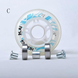 64mm 70mm 72mm Inline Skates Wheel Roller Skate Patines Wheels for Kids Children Sneaker Roll Tyre with Spacer and Bearing