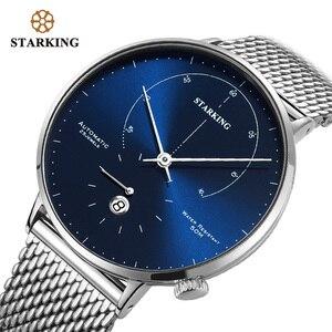 Image 2 - STARKING Automatic Watch Relogio Masculino Self wind 28800 Beats Mechanical Movement Wristwatch Men Steel Male Clock 5ATM AM0269