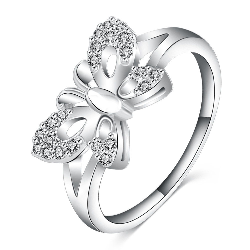 LZESHINE Charm Rings Romantic Silver-Color Women for Knuckle Brincos Anillo CRI0100-B