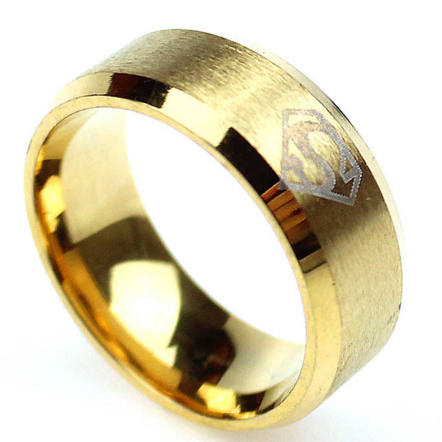 Superman Ring Men Stainless Steel Rings For women