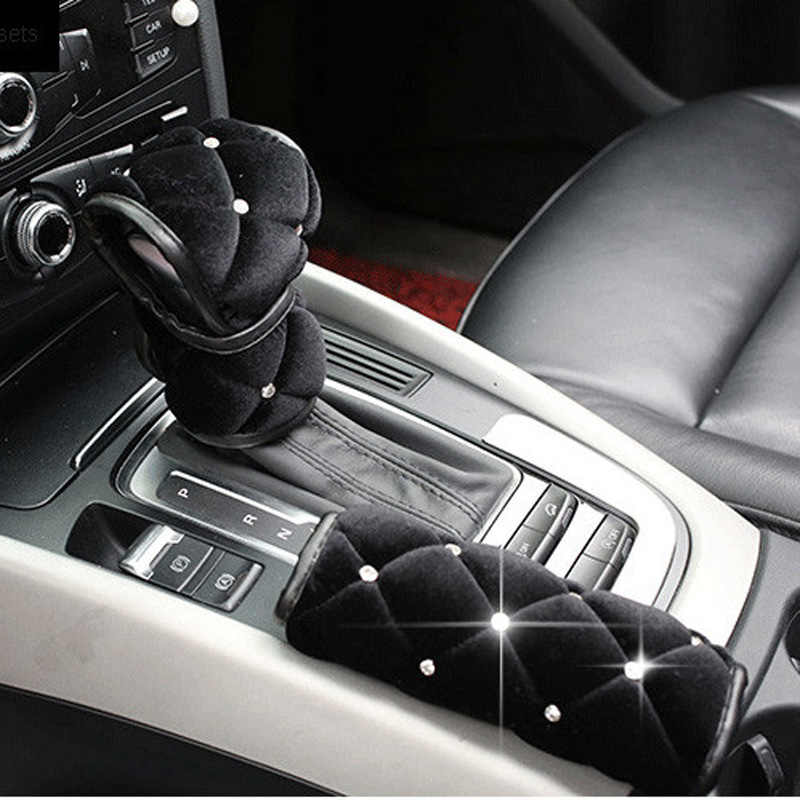 uxcell Universal Car Black Faux Leather Gear Stick Shifter Shift Knob Cover Protector