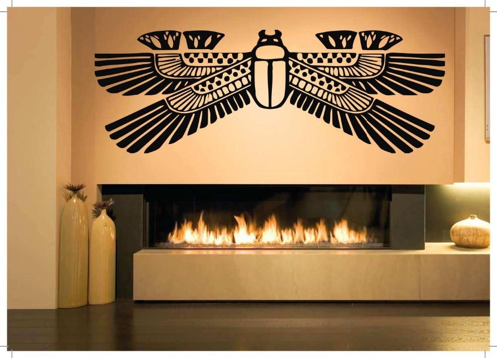 ᐂWall Room Decor Art Vinyl Sticker Mural Decal Ancient Egypt Scarab ...