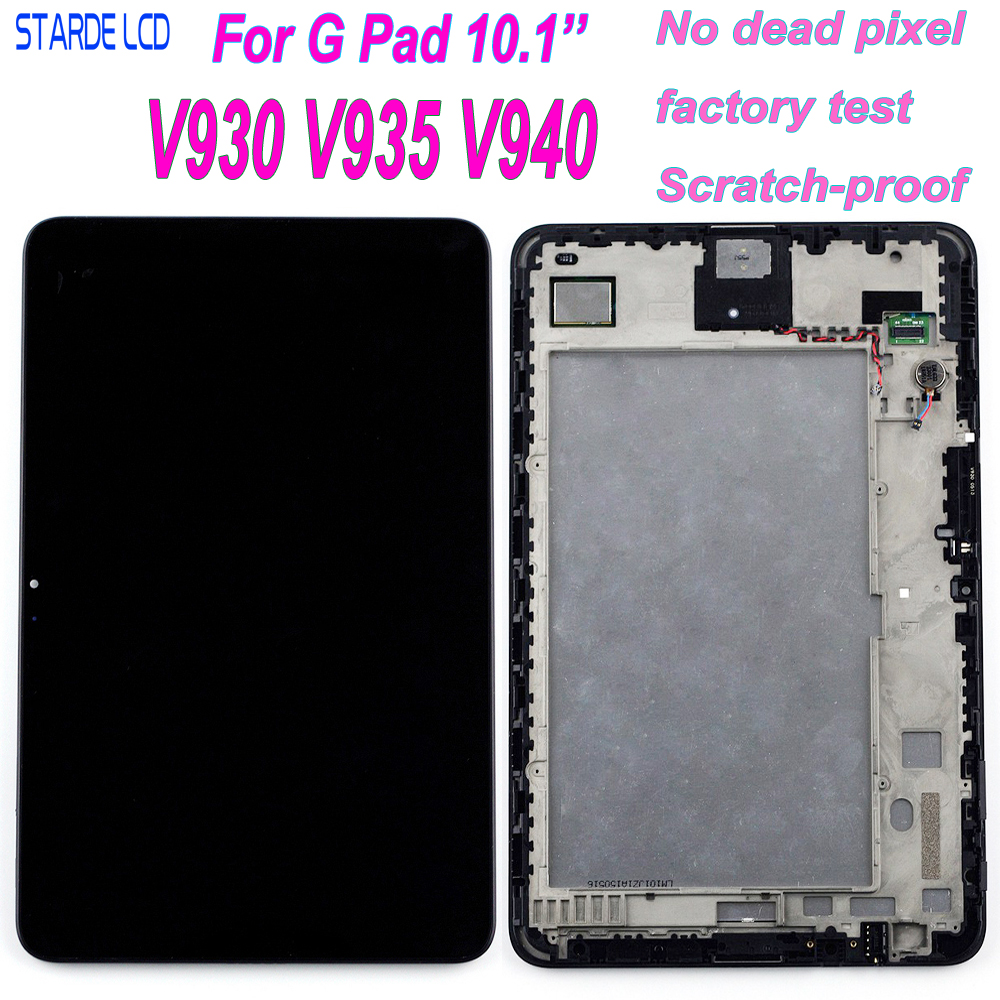 STARDE LCD For LG G Pad 10.1 V930 V935 V940 LCD Display Touch Screen Digitizer Assembly With Frame