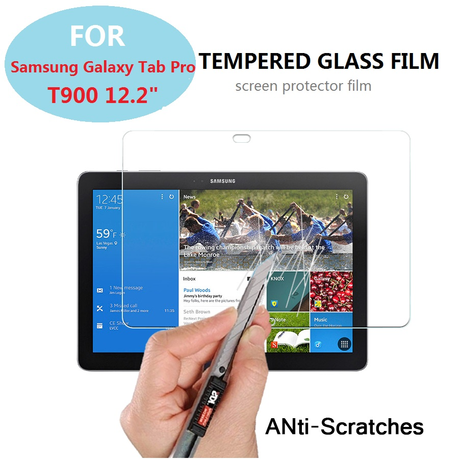 0.3mm 9H 2.5D Explosion-proof Tempered Glass film for Samsung Galaxy Tab Pro 12.2 T900 Anti-shatter screen protector HD LCD film