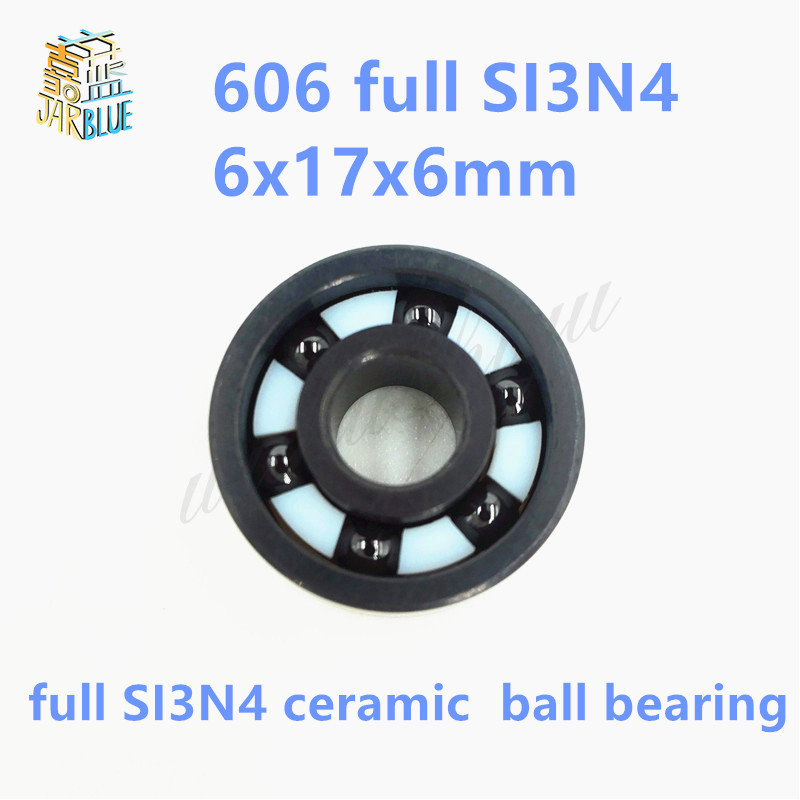Free shipping 606 full SI3N4 ceramic deep groove ball bearing 6x17x6mm P5 ABEC5 free shipping 6000 full zro2 ceramic deep groove ball bearing 10x26x8mm p5 abec5