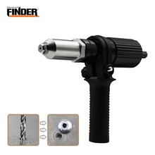 FINDER 2.4-4.8mm  Electric Hand Riveter Conversion Tool  Insert Nail Riveting Adapter Gun Nut Tool Cordless Rivets Drill Adaptor electric riveter conversion head blind riveter adapter mini rivet tool suitable working electric drill extension to riveter