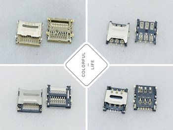 6/8/9PIN Micro Nano Flip SIM TF SD Card Children Watch Toy M Rabbit LCN Alcatel PC Laptop Socket Connector Slot Tray PCB FPC image