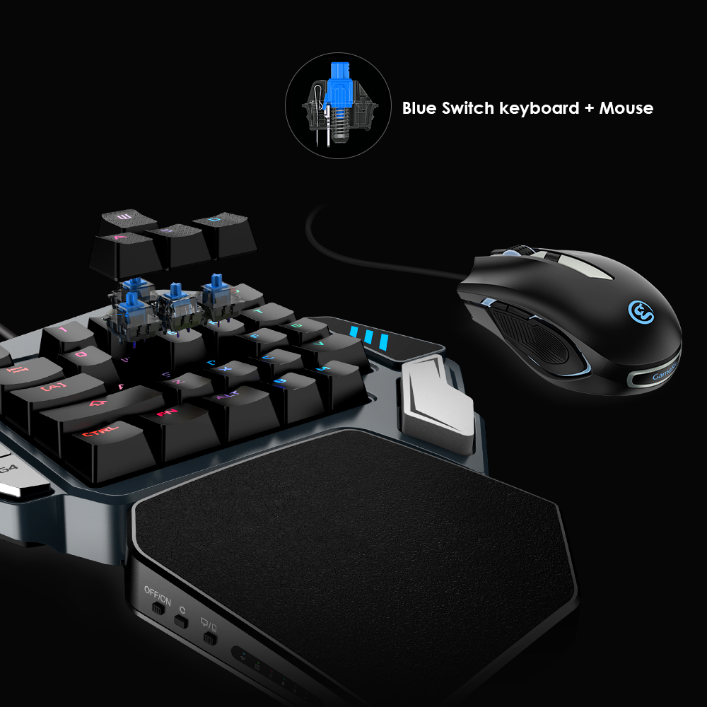 GameSir Z1 Gaming Tastatur, einhand Kirsche MX roten schalter tastatur/Mechanische Blau achse/BattleDock, gaming maus optional-in Gamepads aus Verbraucherelektronik bei AliExpress - 11.11_Doppel-11Tag der Singles 1