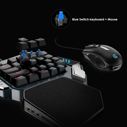 GameSir Z1 Gaming Tastiera, con Una sola mano Cherry MX red switch tastiera/Blu Meccanico asse/BattleDock, mouse da gioco opzionale