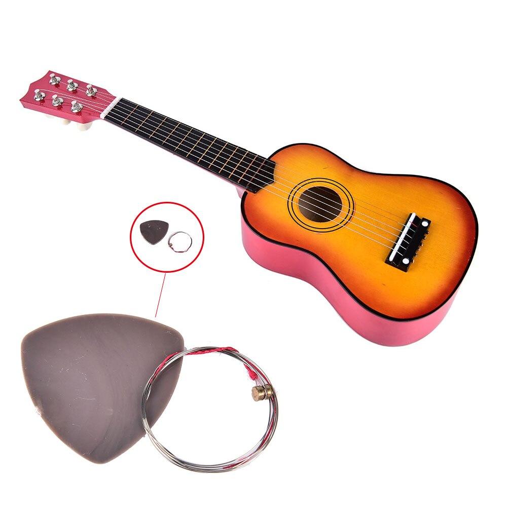 1 ensemble bruit Maker Mini ukulélé débutants enfants cadeaux de noël Hawaii quatre cordes guitare + corde + Pick jouets classiques