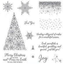 Snowflakes Snow fall Merry Christmas Clear stamp for Easter's Day Scrapbook Scrapbooking Card Making Embrossing Card DIY (China)