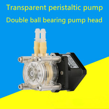 Stepper motor large flow anti-corrosion peristaltic pump self-priming pump 1m pipe kmaoer modbus stepper motor peristaltic pump controller plc control the speed for khl kcs water pump