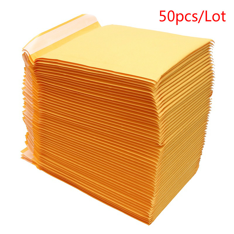 50 PCS/Lot Kraft Paper Mailers Bubble Envelopes Bags Mailers Padded Shipping Envelope With Bubble Mailing Bag